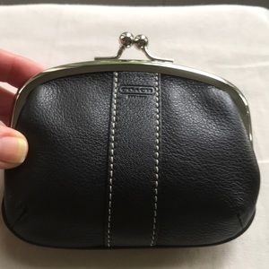 Coach NWT Rare Leather embossed Framed Coin Purse